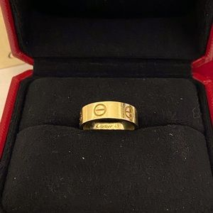 [Aut with Cert] Cartier LOVE Ring Size:47 (US 4)